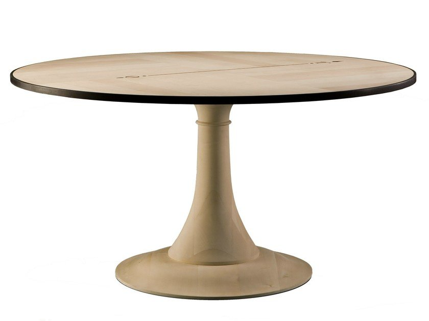 Round maple table NORD SUD by Morelato