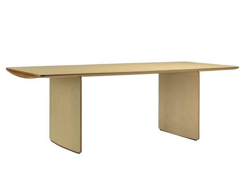Rectangular maple table AERO | Table by Morelato