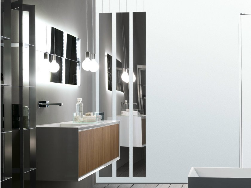Rectangular wall-mounted mirror HD | Rectangular mirror by RIFRA