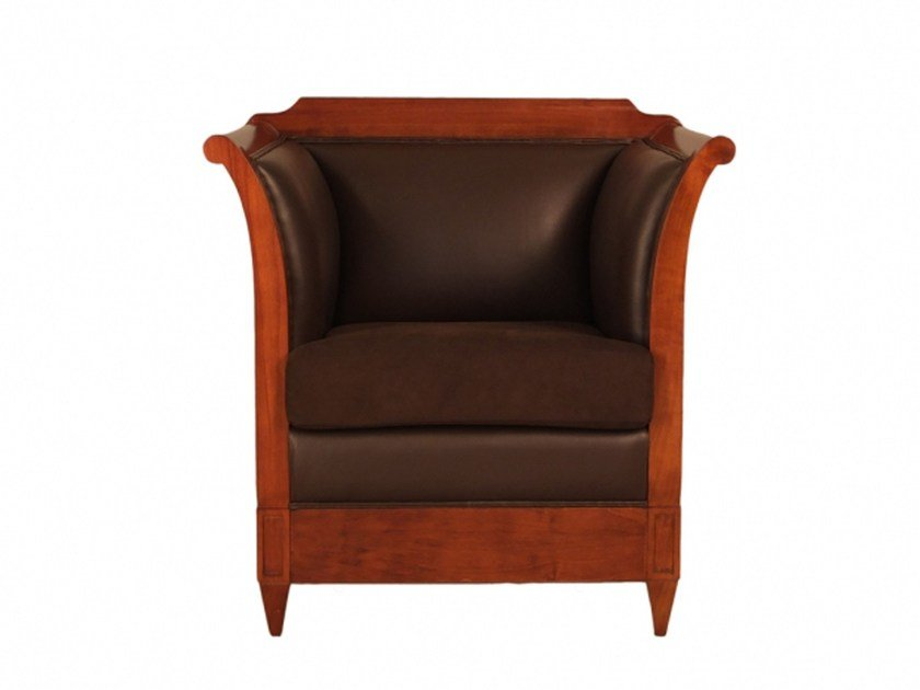 Upholstered armchair with armrests VERONA | Armchair by Morelato