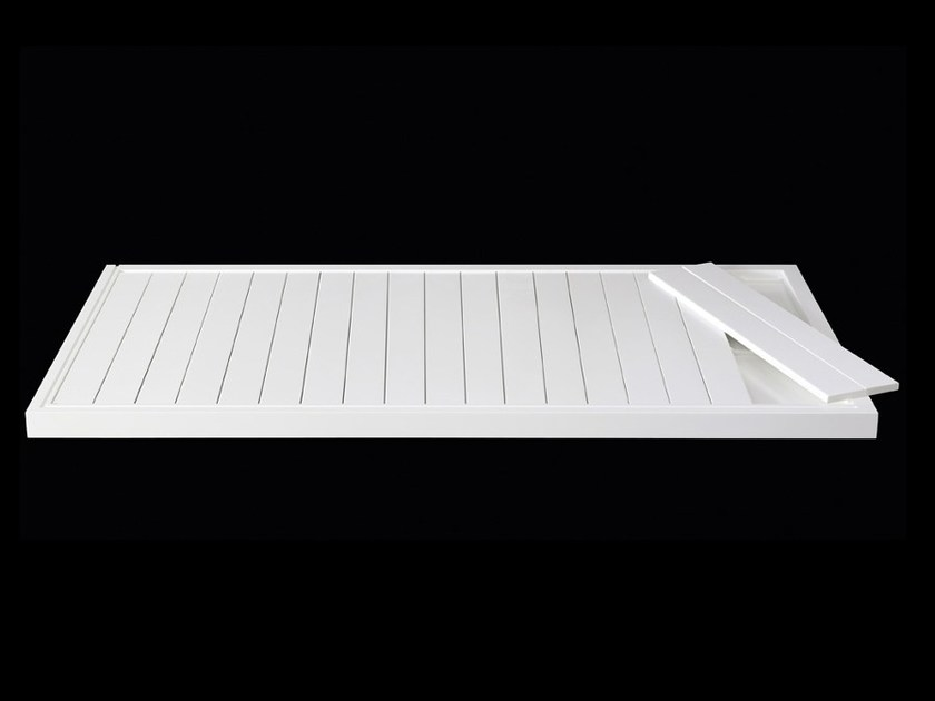 Slatted Corian® shower tray LINE 60   Corian® shower tray by RIFRA
