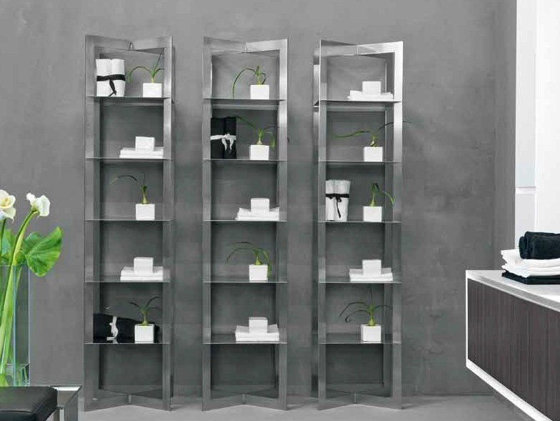 Tall bathroom cabinet AIR by RIFRA