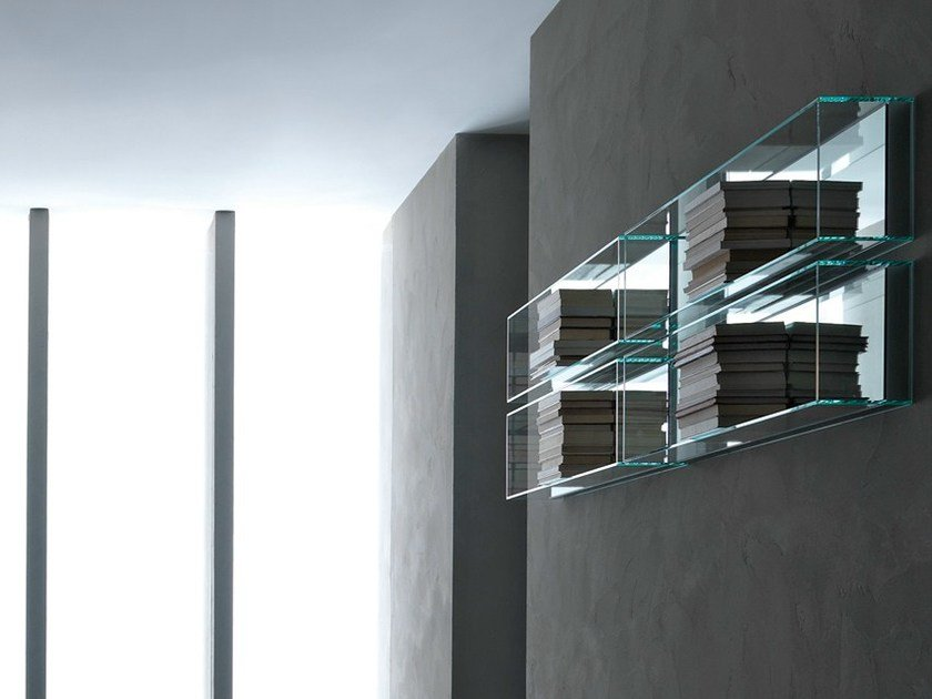 Crystal bathroom wall shelf LIGHT2 by RIFRA