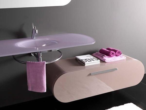 Storage bathroom cabinet with drawers FLUX_US 17 | Bathroom cabinet by LASA IDEA