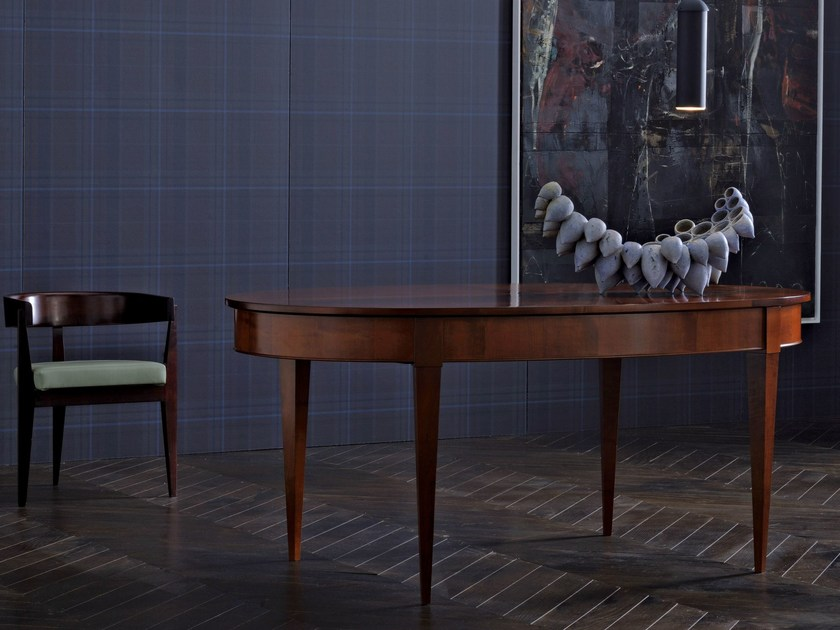 Extending oval wooden table DIRETTORIO | Oval table by Morelato