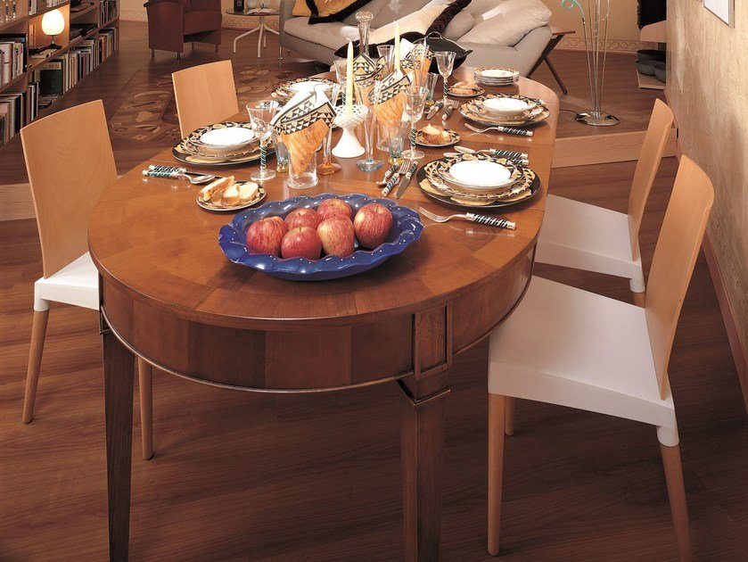 Extending round cherry wood table DIRETTORIO | Round table by Morelato