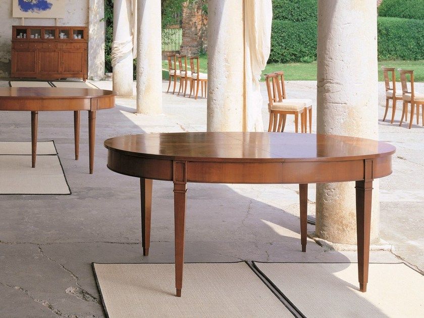 Extending oval cherry wood table DIRETTORIO | Extending table by Morelato