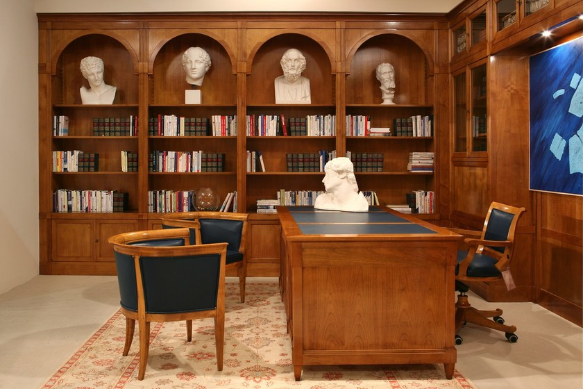 Libreria componibile modulare in ciliegio DIRETTORIO   Libreria ...