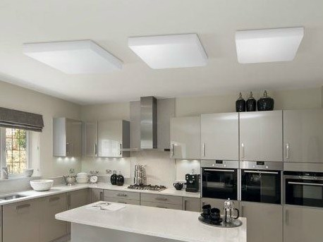 Fluorescent PMMA ceiling light CUBO FLAT 500 | Ceiling light by Lombardo