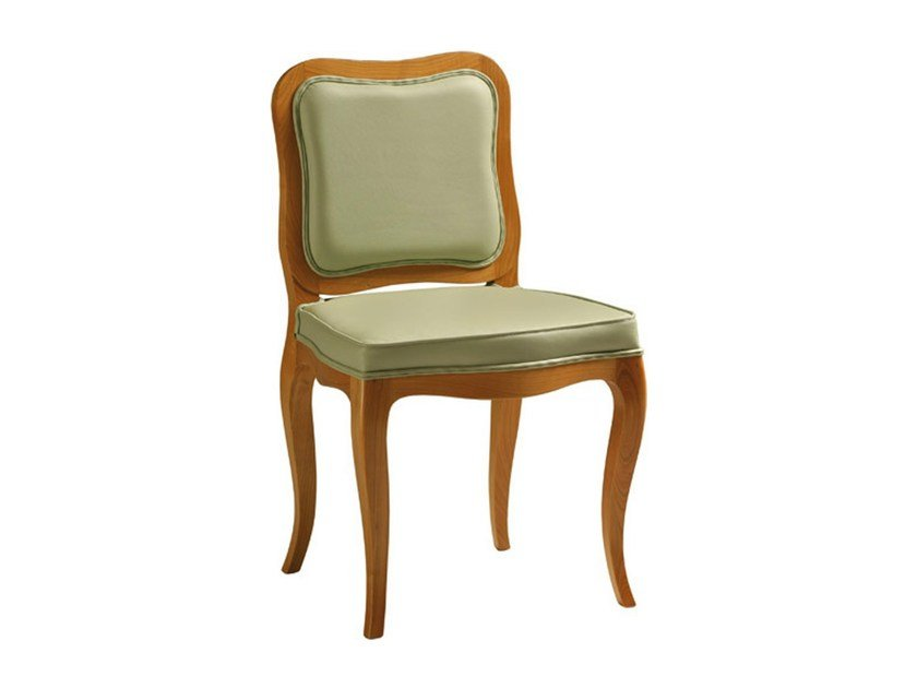 Upholstered leather chair ROSALBA | Chair by Morelato