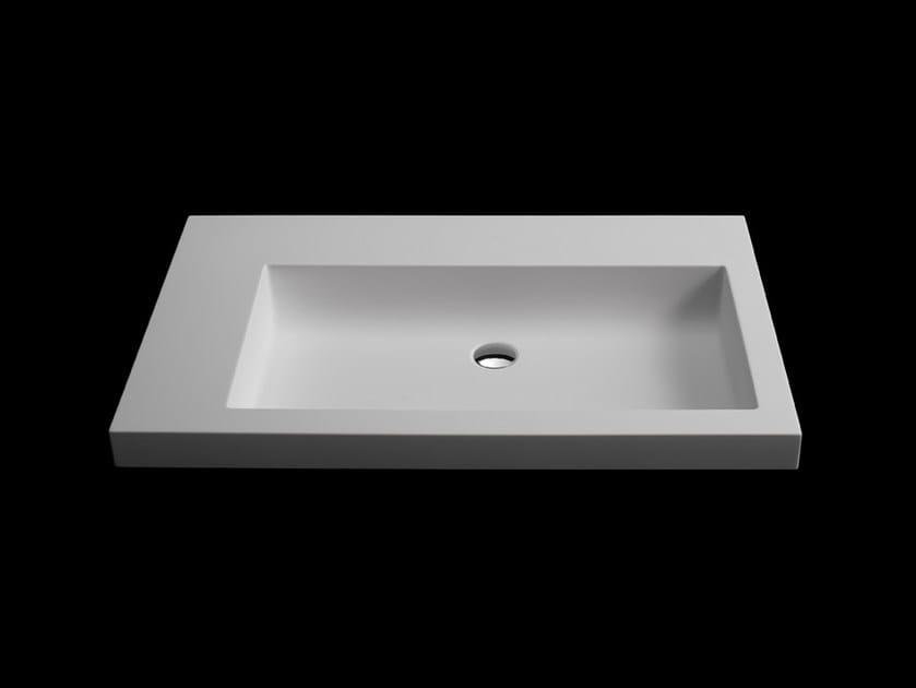 Countertop rectangular washbasin SLIM by RIFRA