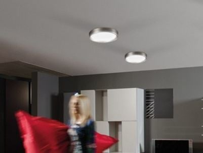 LED polycarbonate ceiling light AREO PLUS FLAT 350 | Ceiling light by Lombardo