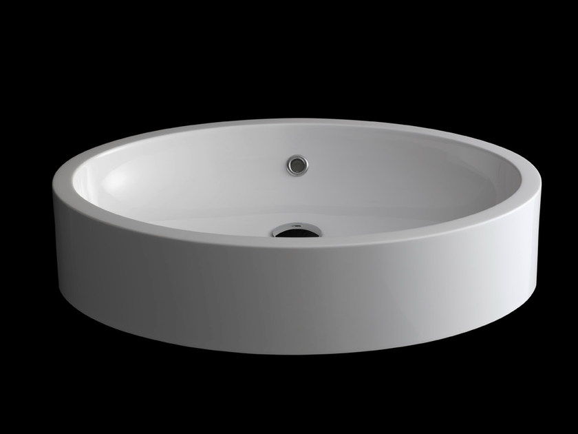 Semi-inset washbasin OVALE by RIFRA
