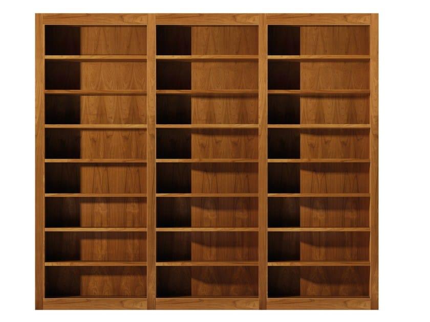 Open sectional cherry wood bookcase MASCHERA   Open bookcase by Morelato