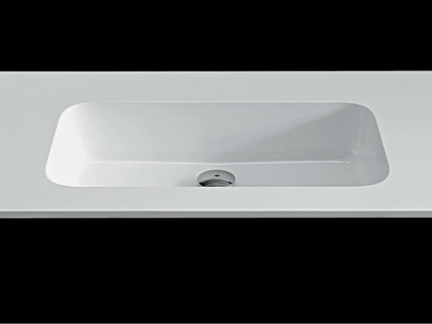 Washbasin with integrated countertop PLANO WB8 by RIFRA