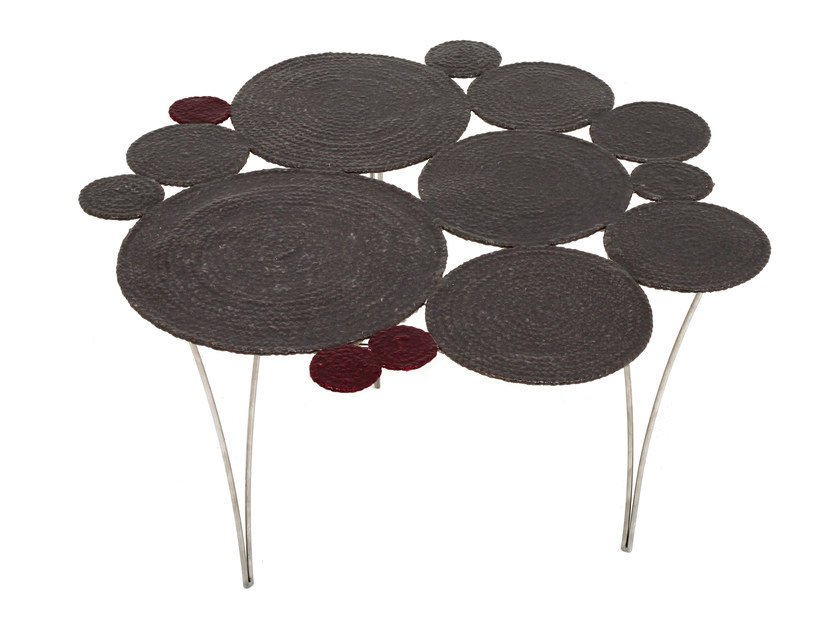 Low technical fabric coffee table WATERLILY | Low coffee table by Darono