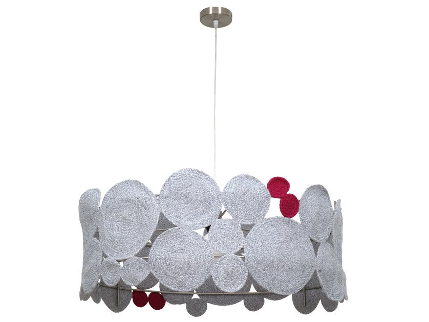 Technical fabric pendant lamp WATERLILY | Pendant lamp by Darono