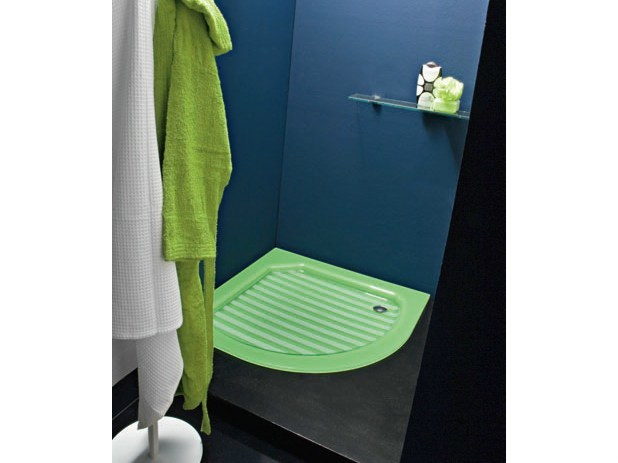 Crystal shower tray COMPOS | Corner shower tray by LASA IDEA