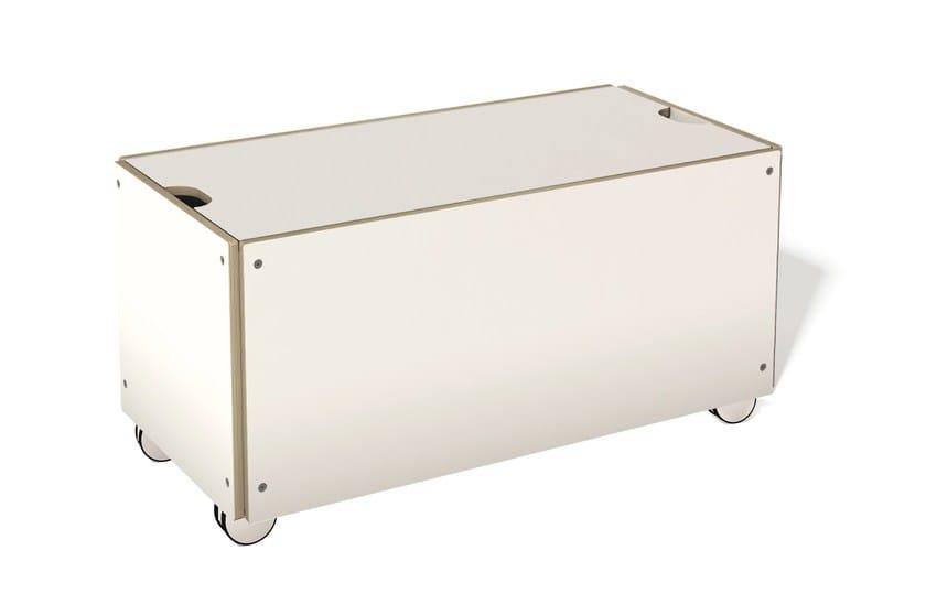Wooden storage chest with casters BETTKASTEN | Storage chest with casters by Müller Möbelwerkstätten
