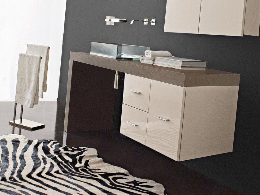 Sectional vanity unit with doors with drawers MARIPOSA 28 by LASA IDEA