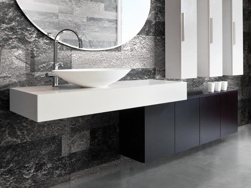 Single wall-mounted vanity unit with drawers MARIPOSA 40 by LASA IDEA