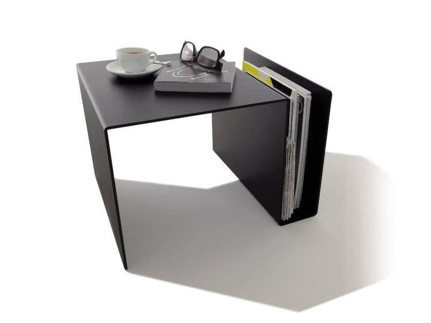 Coffee table with integrated magazine rack HUK by Müller Möbelwerkstätten