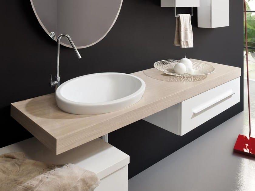 Single wall-mounted vanity unit with drawers MARIPOSA MT10 by LASA IDEA