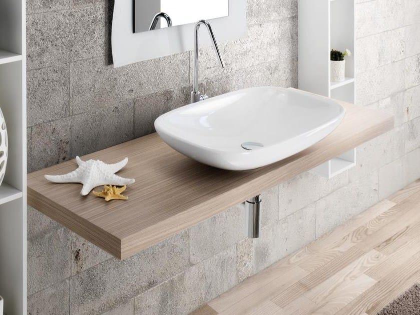 Oak washbasin countertop MARIPOSA 51 by LASA IDEA