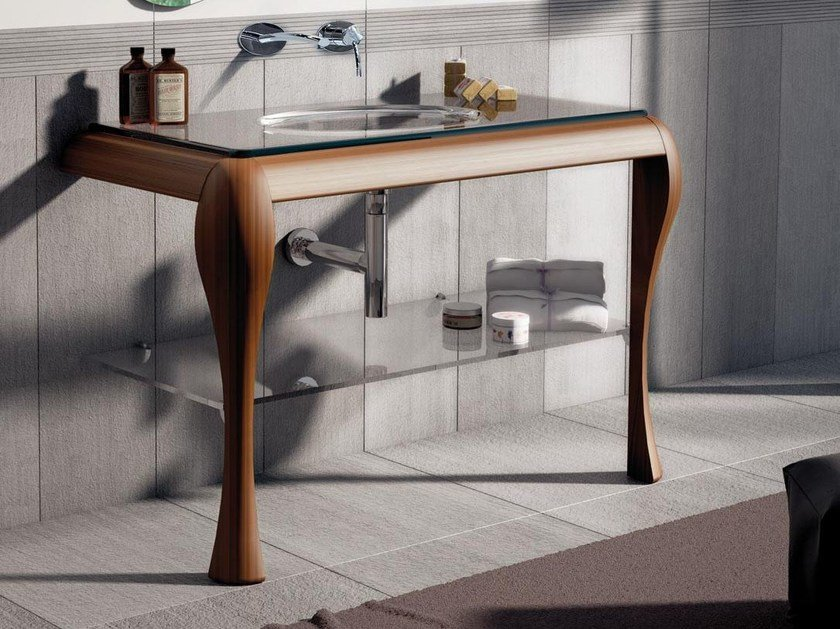Single ash console sink AIR 03 by LASA IDEA