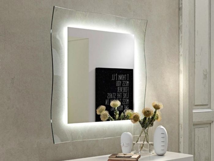 Wall-mounted framed mirror GINEVRA by RIFLESSI