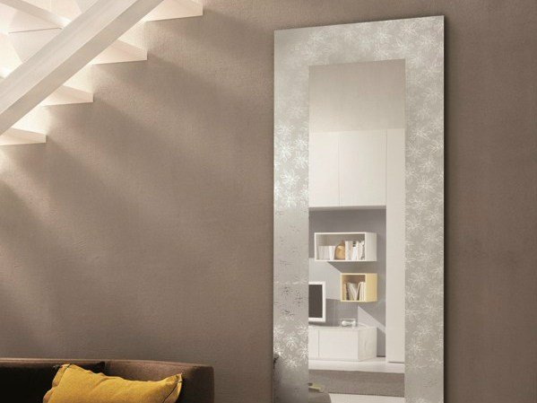 Rectangular wall-mounted hall mirror HOLLY by RIFLESSI