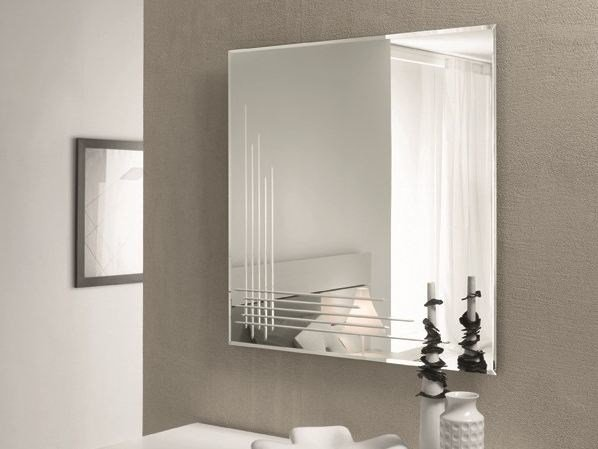 Wall-mounted framed mirror INCISO by RIFLESSI