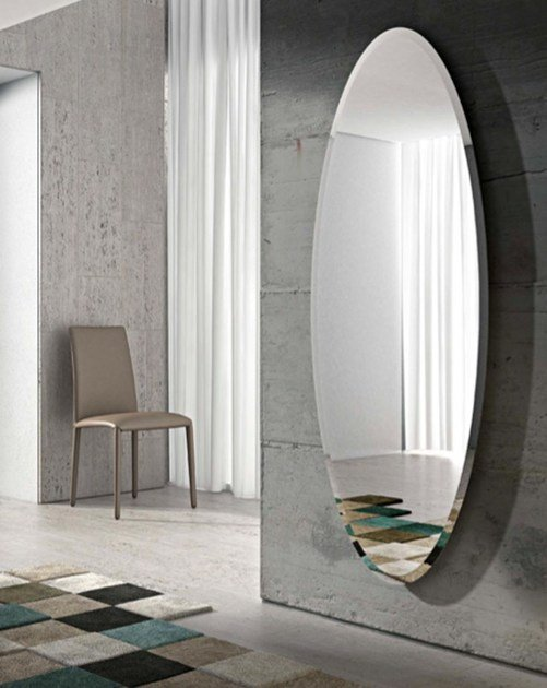 Oval wall-mounted mirror IONICO by RIFLESSI