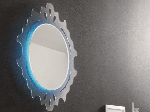 Oval wall-mounted mirror OLIMPO by RIFLESSI