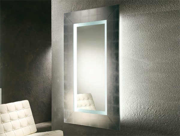 Wall-mounted framed mirror SIBILLA by RIFLESSI