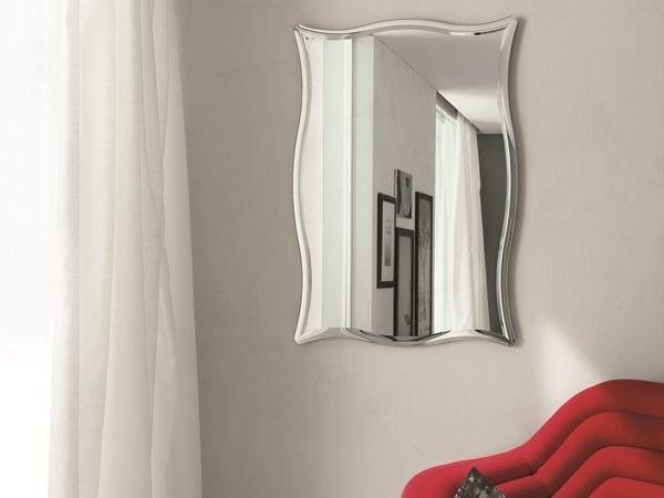 Rectangular wall-mounted mirror VIVIAN by RIFLESSI