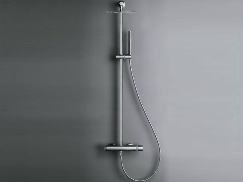 Thermostatic shower panel with overhead shower COCOON MONO SET32 by COCOON