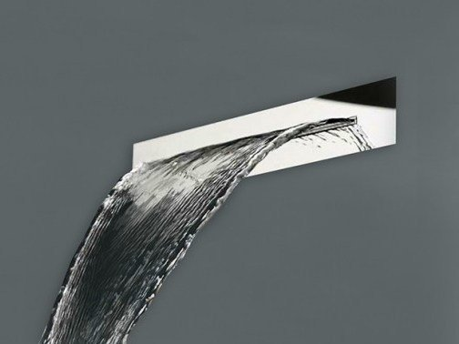 Wall-mounted built-in stainless steel waterfall shower COCOON CASCADE 3 by COCOON