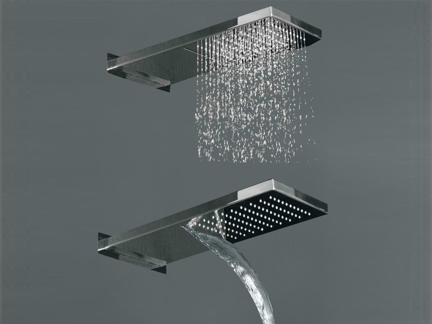 Stainless steel waterfall shower COCOON MONO 75 by COCOON