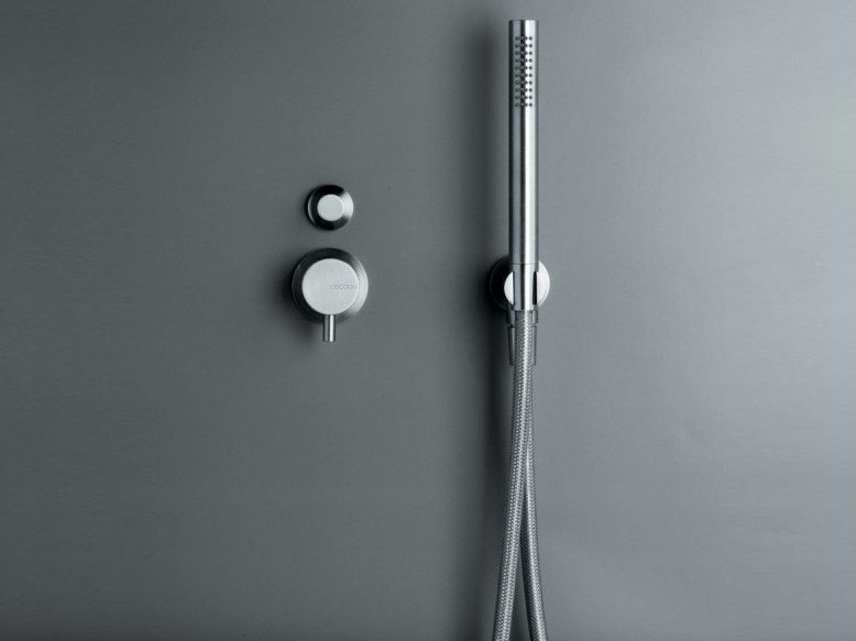 Stainless steel shower/bath mixer with diverter COCOON MONO SET30 by COCOON