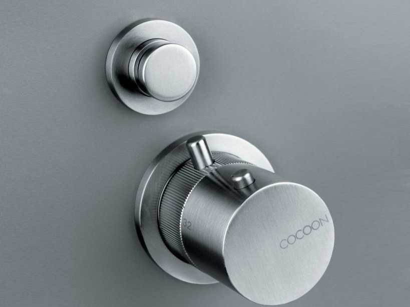 Thermostatic shower mixer with diverter COCOON MONO 02THERM by COCOON