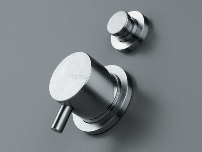 Stainless steel shower/bath mixer with diverter COCOON MONO 02 by COCOON