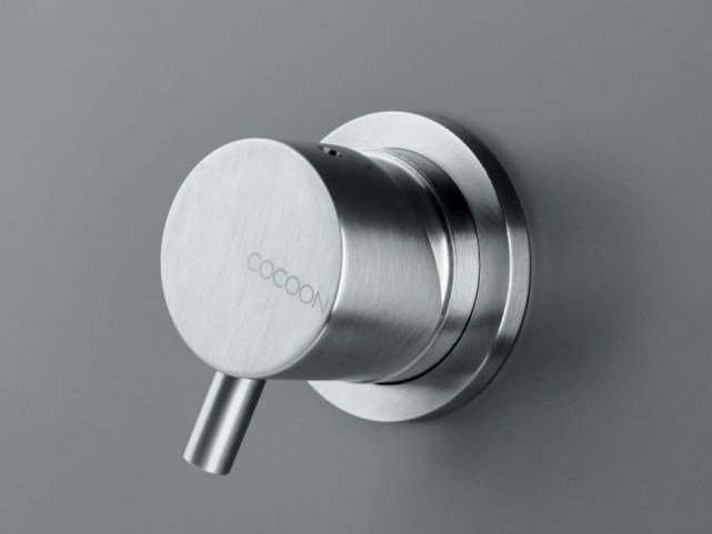 Stainless steel shower/bath mixer COCOON MONO 01U by COCOON