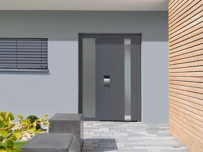 Energy-saving exterior entry door THERMOCARBON By HÖRMANN ITALIA