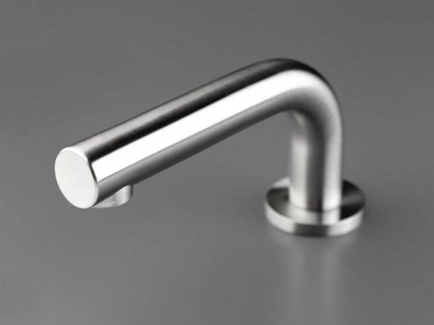 Deck-mounted stainless steel spout COCOON MONO 82 by COCOON