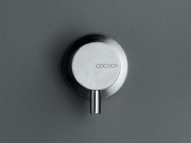 Wall-mounted stainless steel bathtub mixer COCOON MONO 01L by COCOON