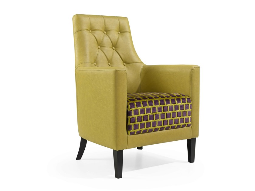 High-back armchair FLORIDA by Fenabel