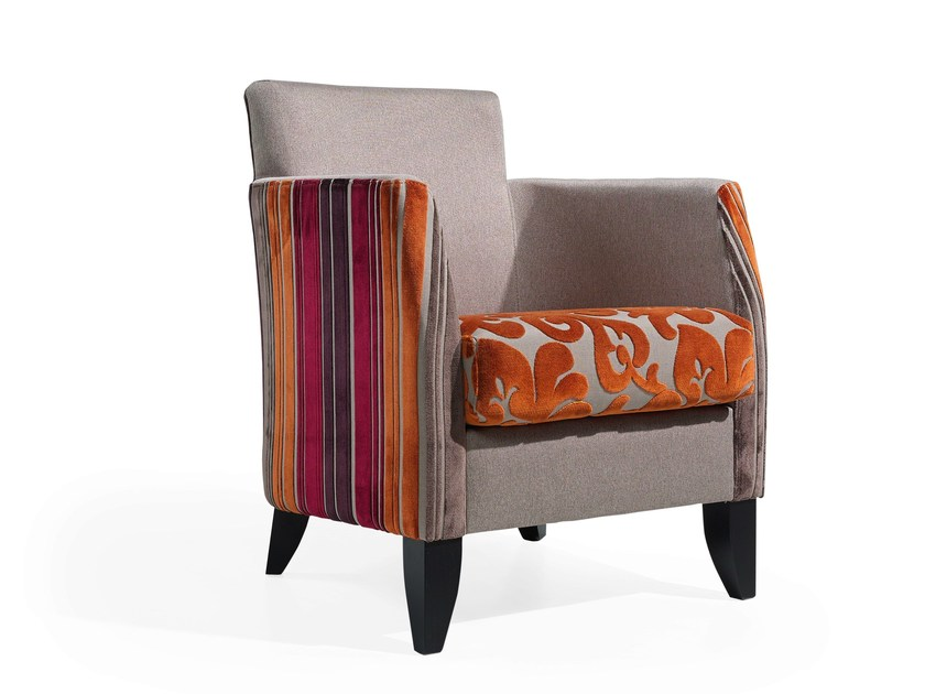Armchair with armrests JUPITER by Fenabel