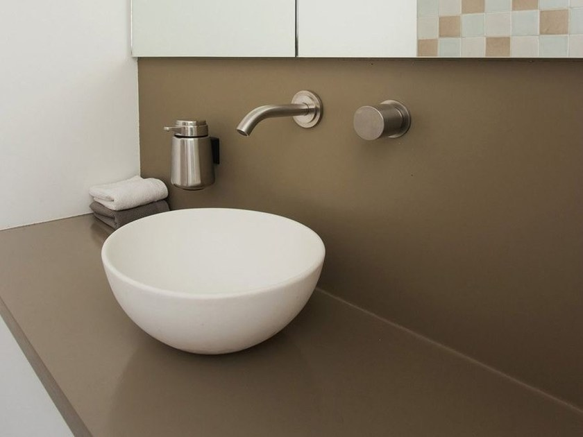 Countertop round Solid Surface washbasin COCOON ES CUBELLS MINI by COCOON
