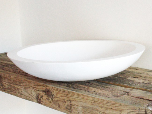 Countertop round Solid Surface® washbasin COCOON BOWL 1.2 by COCOON